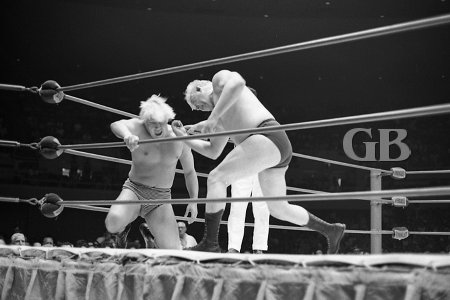Ray Stevens feeds Patt Patterson a few knuckles for his troubles